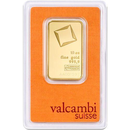 10 Oz Valcambi Gold Bar New W Assay Gold Bullion Bars Gold Bullion Gold Bar