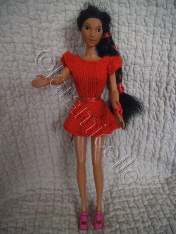tuto gratuit barbie robe tournante flamboyante Poupee