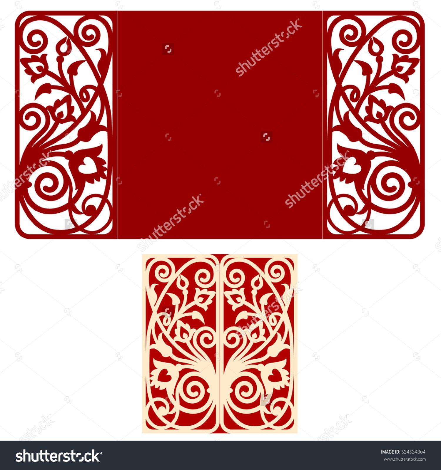 stock-vector-card-for-laser-cutting-vs-die-cutting-laser-cut-wedding ...