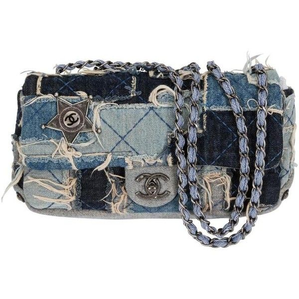 Preowned Chanel Denim Dallas Limited Edition Flap Bag Featuring Polyvore Women S Fashion Bags