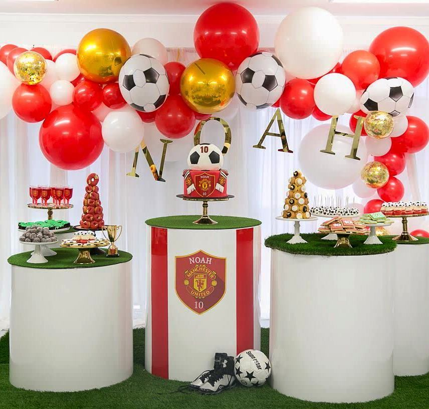 Noah S Manchester United Soccer Party Styling And Props By Luxecoutureevents Soccer Birthday Parties Manchester United Birthday Cake Soccer Theme Parties