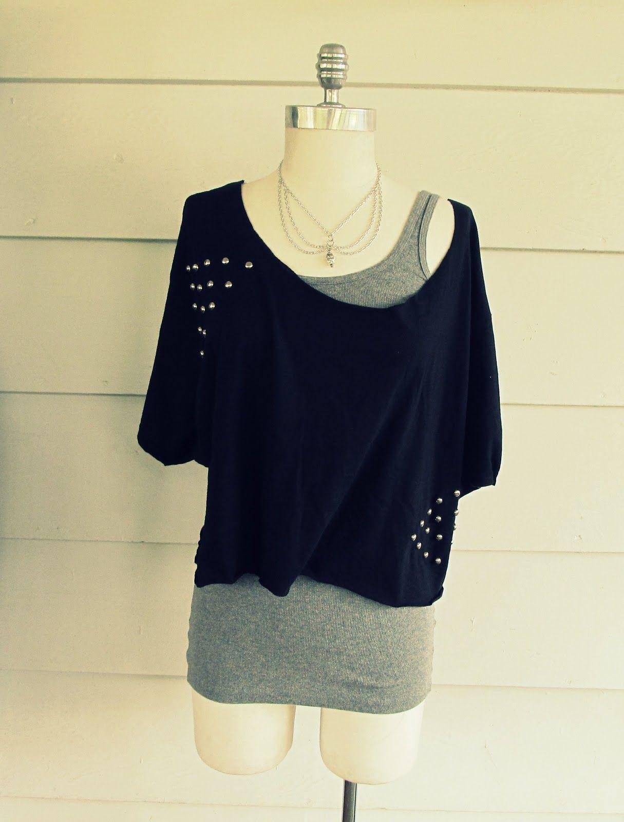 f the Shoulder Triangle Stud Tee Shirt DIY