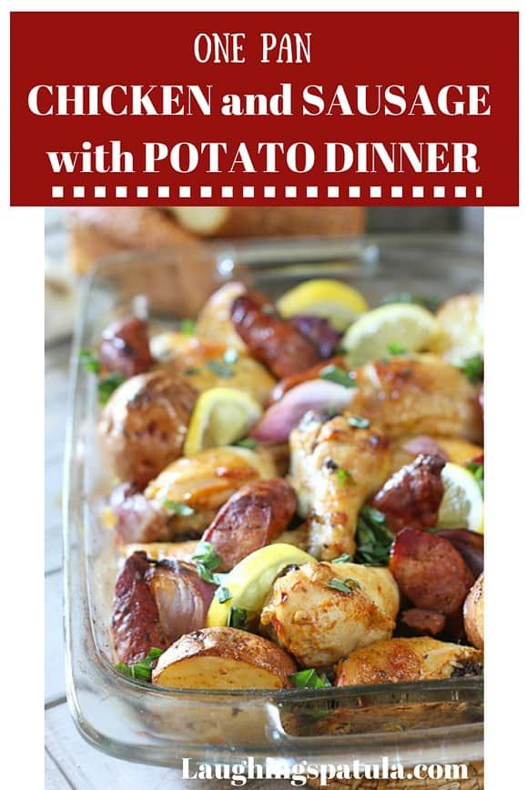One Pan Roasted Chicken with Sausage and Potatoes