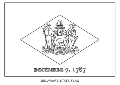 Flag Of Delaware Coloring Page Flag Coloring Pages Delaware