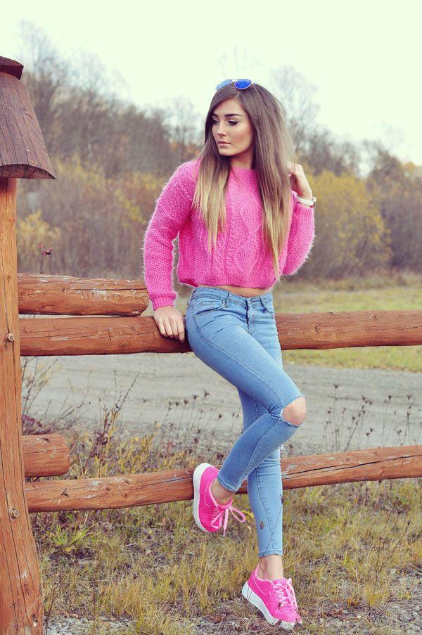 Różowe nike in 2020 | Kleidung, Mädchen, Winter outfits
