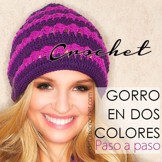 Gorro Crochet / Paso a paso | Proyectos que intentar | Pinterest ...