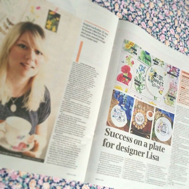 """""""definitely wasn't expected that!!! a lovely two page spread in the #leicestermercury #leicestermoremag today...so overwhelmed and extremely chuffed"""" http://www.leicestermercury.co.uk/Success-plate-designer-Lisa/story-25960295-detail/story.html"""