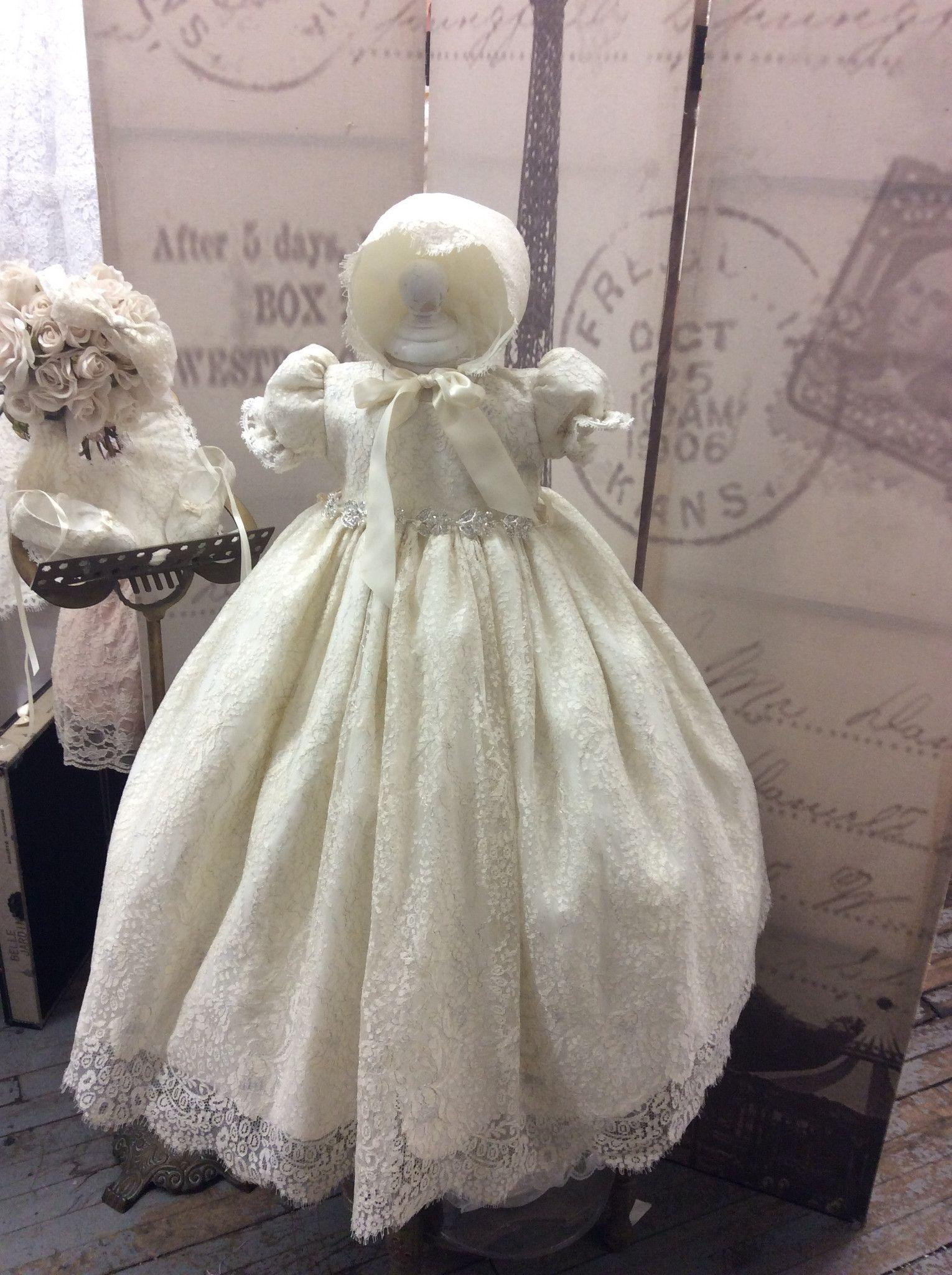 Christening Vintage Lace Gown Baptism Anneta Babysitting