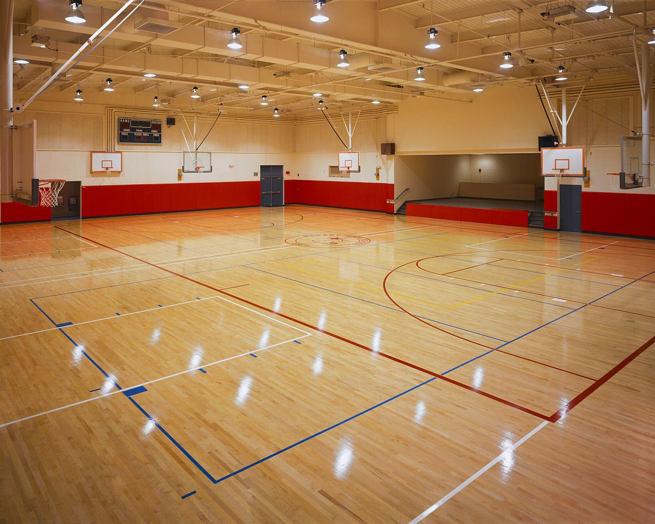 Indoor Sports Facilities Basketball Basketball Court Pvc Flooring
