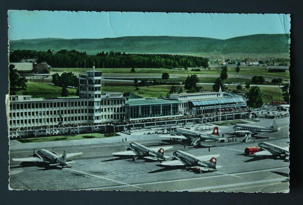 Zurich Airport Flughof Vintage Postcard Vintage Postcard