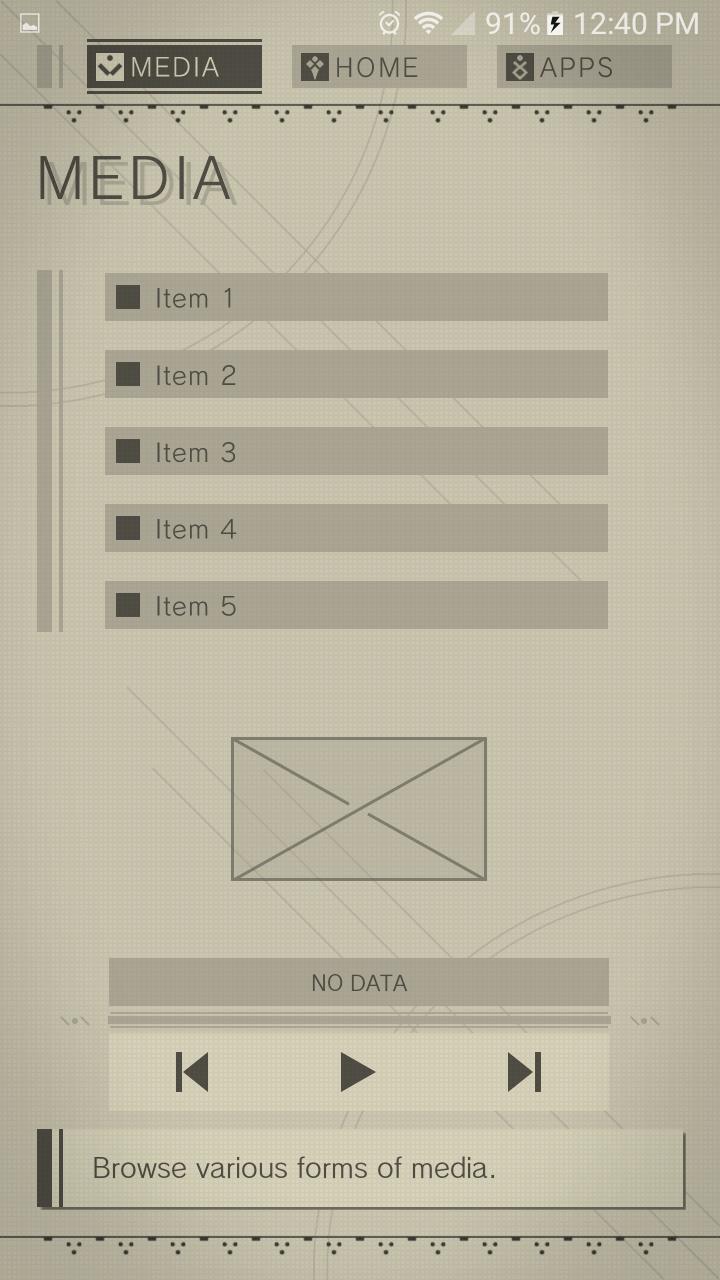 Nier Theme Screenshots Game Design Web Design Phone Themes