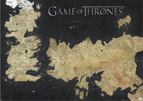 game of thrones map of westeros essos huge tv poster giant poster 55 x 39in products pinterest huge tv and drop