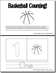 Count And Color Books Plus A Pre K Pack For Basketball Homeschool