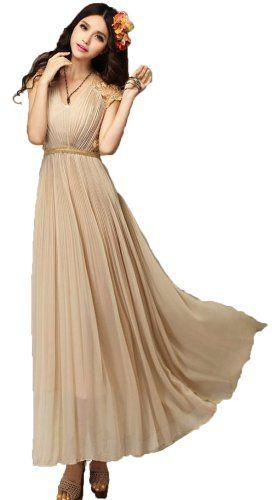Bridesmaid Dresses Women Evening Cocktail Vintage Dress Chiffon Maxi Dress (XL=US8) TRURENDI http://smile.amazon.com/dp/B00INW7DDO/ref=cm_sw_r_pi_dp_1-VRub0MSVM13