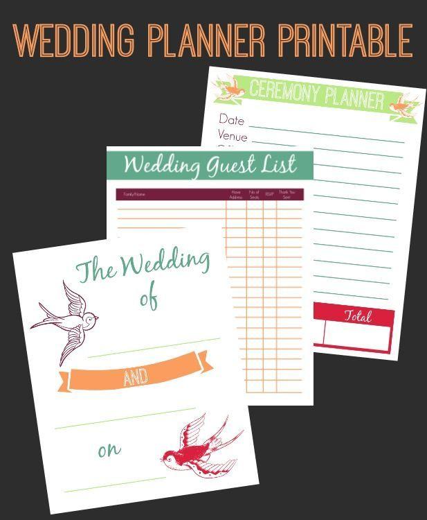 wedding planner printable set perfect wedding pinterest