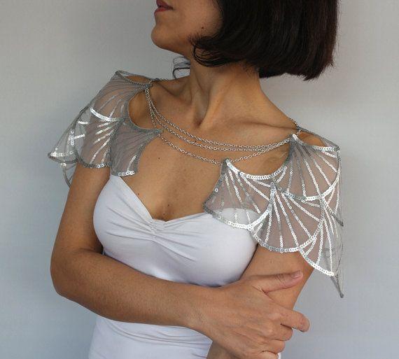 Silver Shoulder Cape