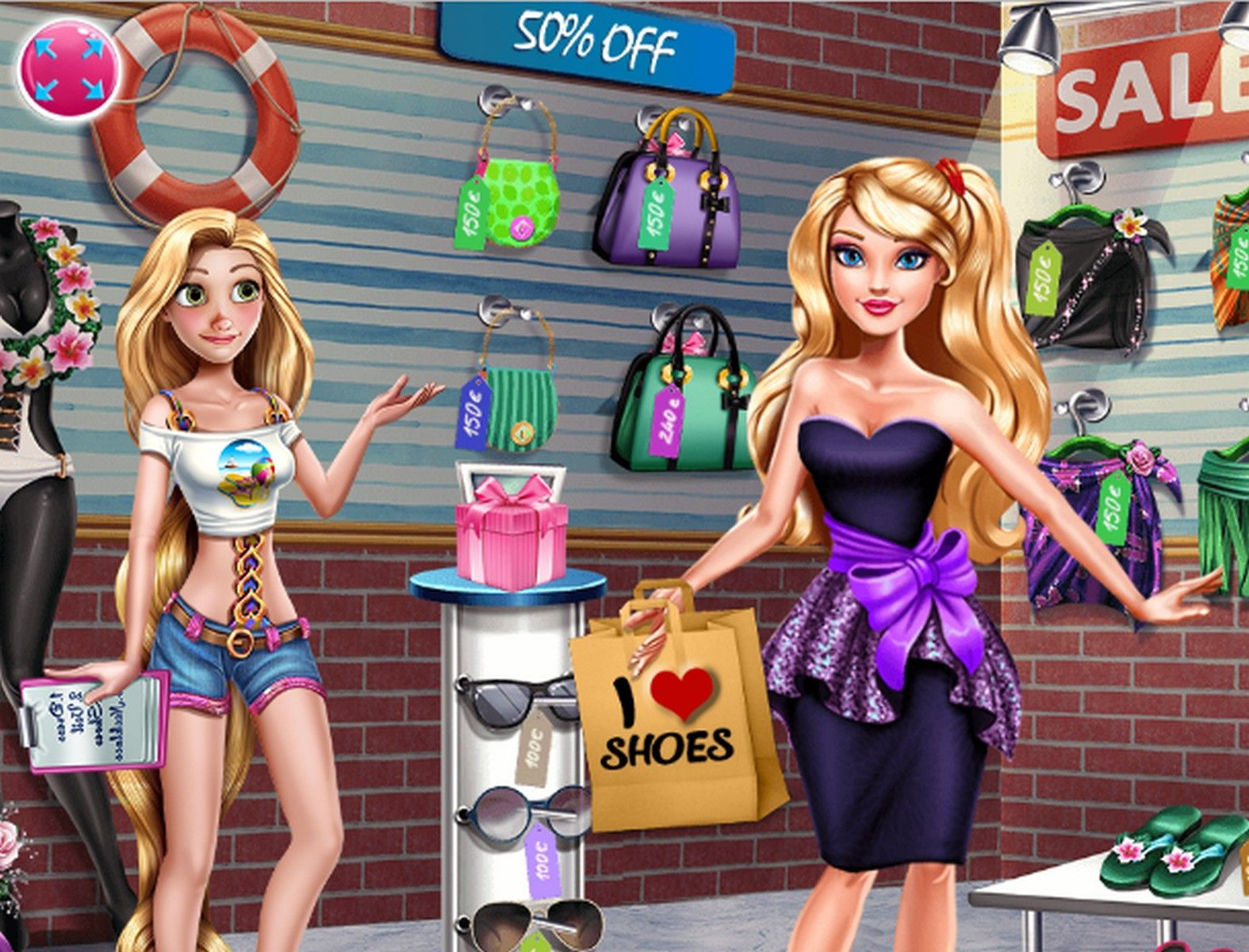 Ella Shopping Fever Free online games, Classic games