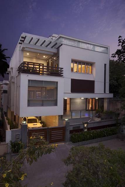 Kk Nagar House Exterior 2 Small House Elevation Design Modern Style House Plans Cool House Designs