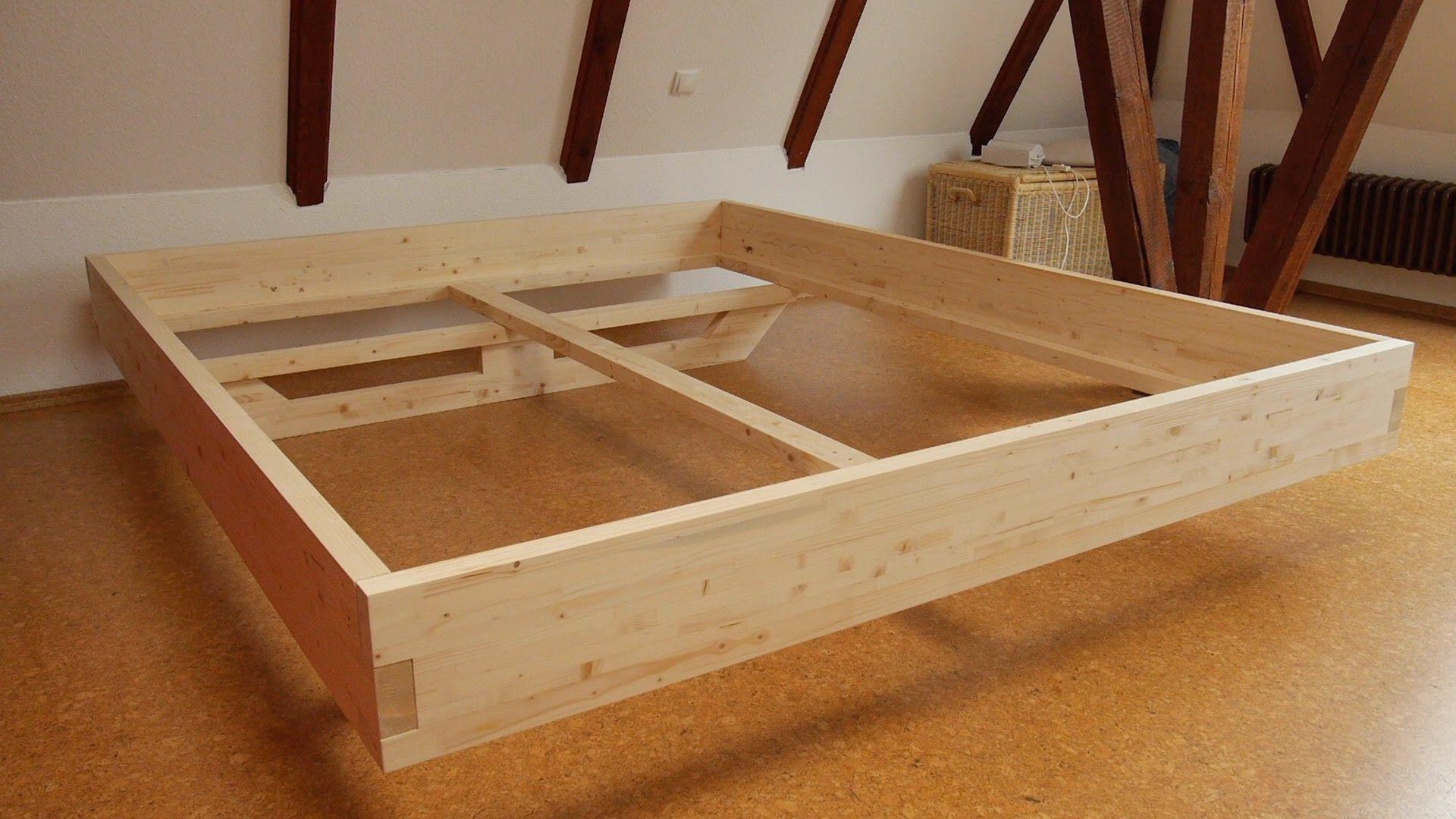diy massivholz-bett selber bauen (woodworking bed) | woodworking
