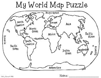 World map puzzle freebie social studies map skills with this packet students can create their own world map puzzle simply copy the world map frontback with one of the puzzle templates sciox Images