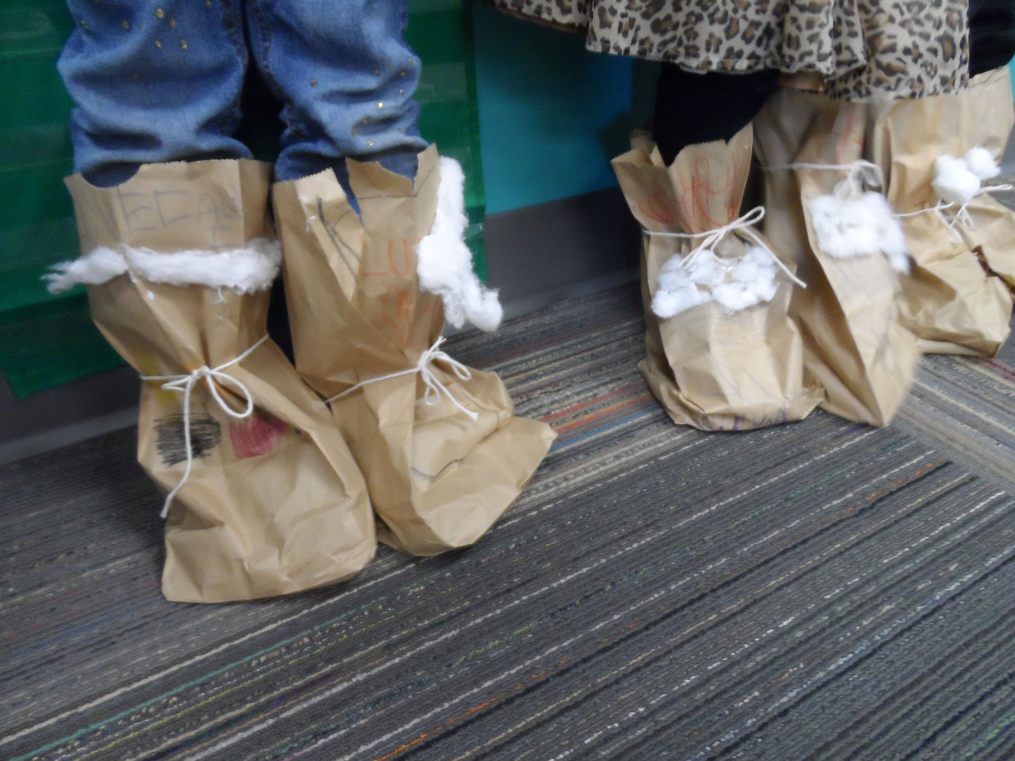 For Our Winter Theme Social Stu S We Made Paper Bag