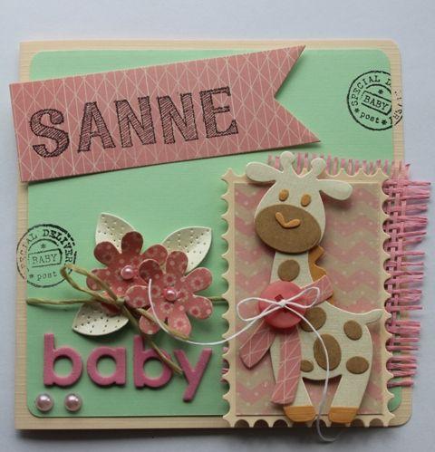 Gemaakt door Joke # Geboortekaartje Sanne