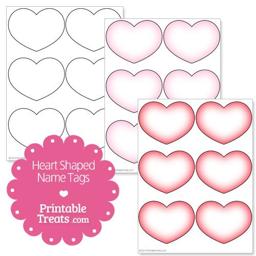 photograph regarding Printable Heart Shaped Labels identified as Printable Center Fashioned Popularity Tags Craft Parts Form names