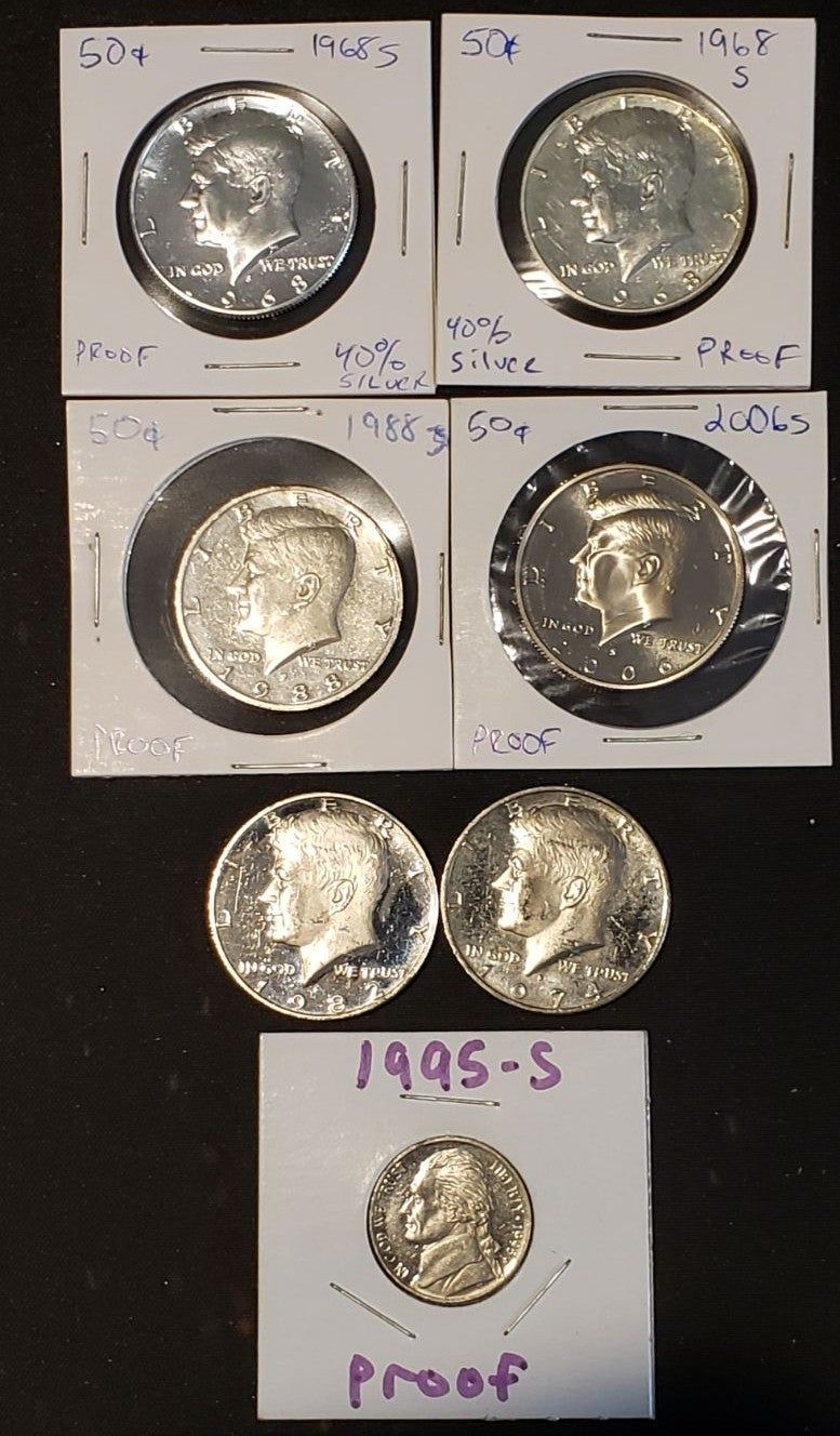 1963 D US Uncirculated Year Set with Silver Half Quarter and Dime 5 Coins Total