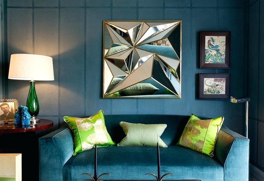 Blaues und grünes Wohnzimmer Innenarchitektur 2018 Pinterest - moderne wandgestaltung wohnzimmer lila