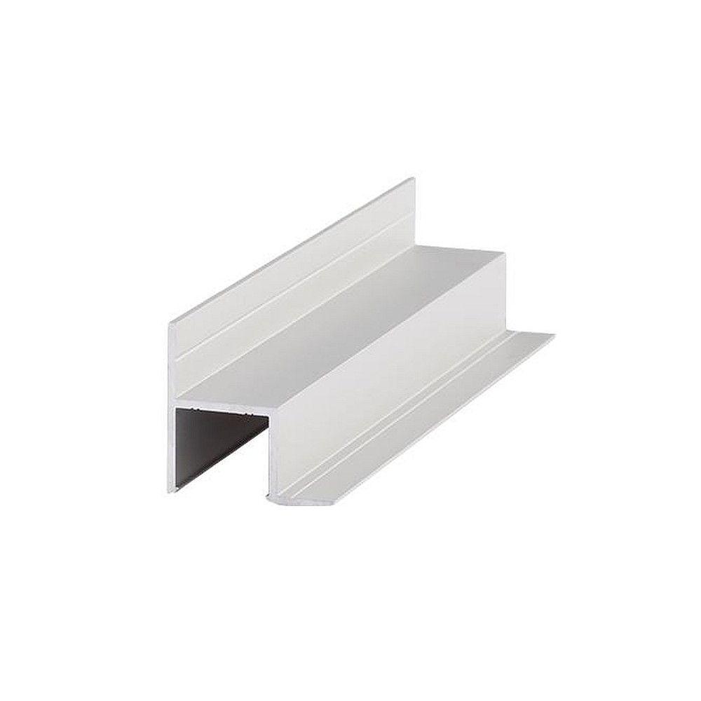LED Deckeneinbauprofil mit Wandbefestigung P75-14 (BRUM-53755260), konfektioniert 10cm, Alu eloxiert