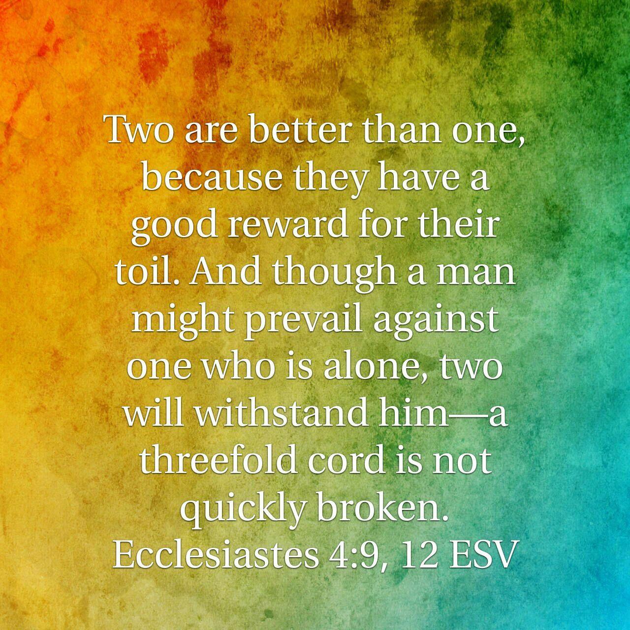 Ecclesiastes 4 9 23 Esv