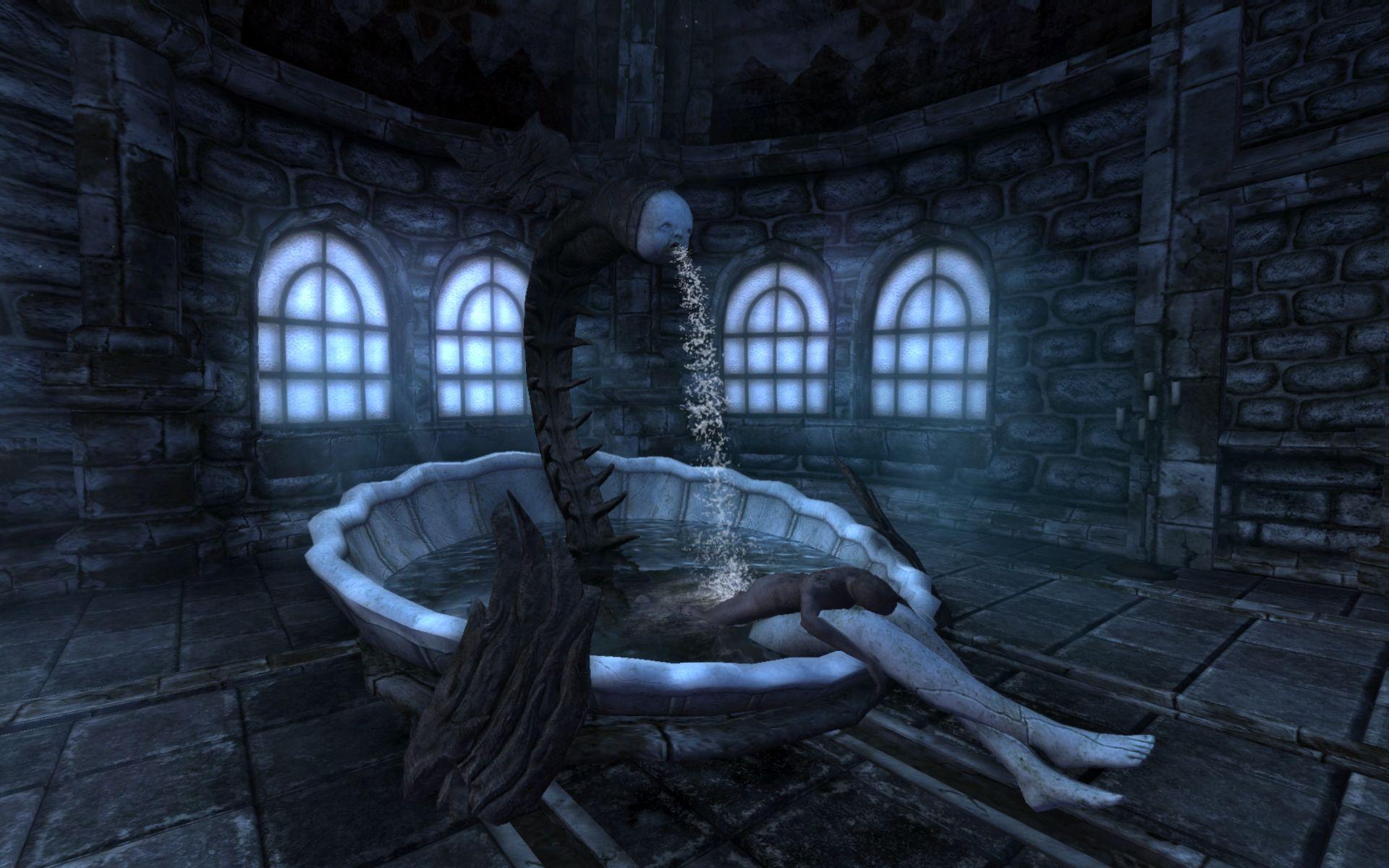A Fountain In Amnesia The Dark Descent Amnesia The Darkest Dark