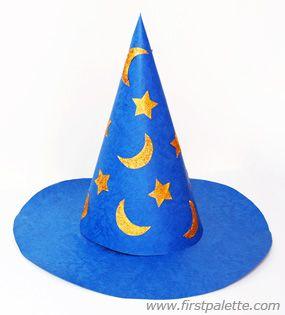 Wizard hat craft fun hat crafts for kids pinterest craft for Craft hats for kids