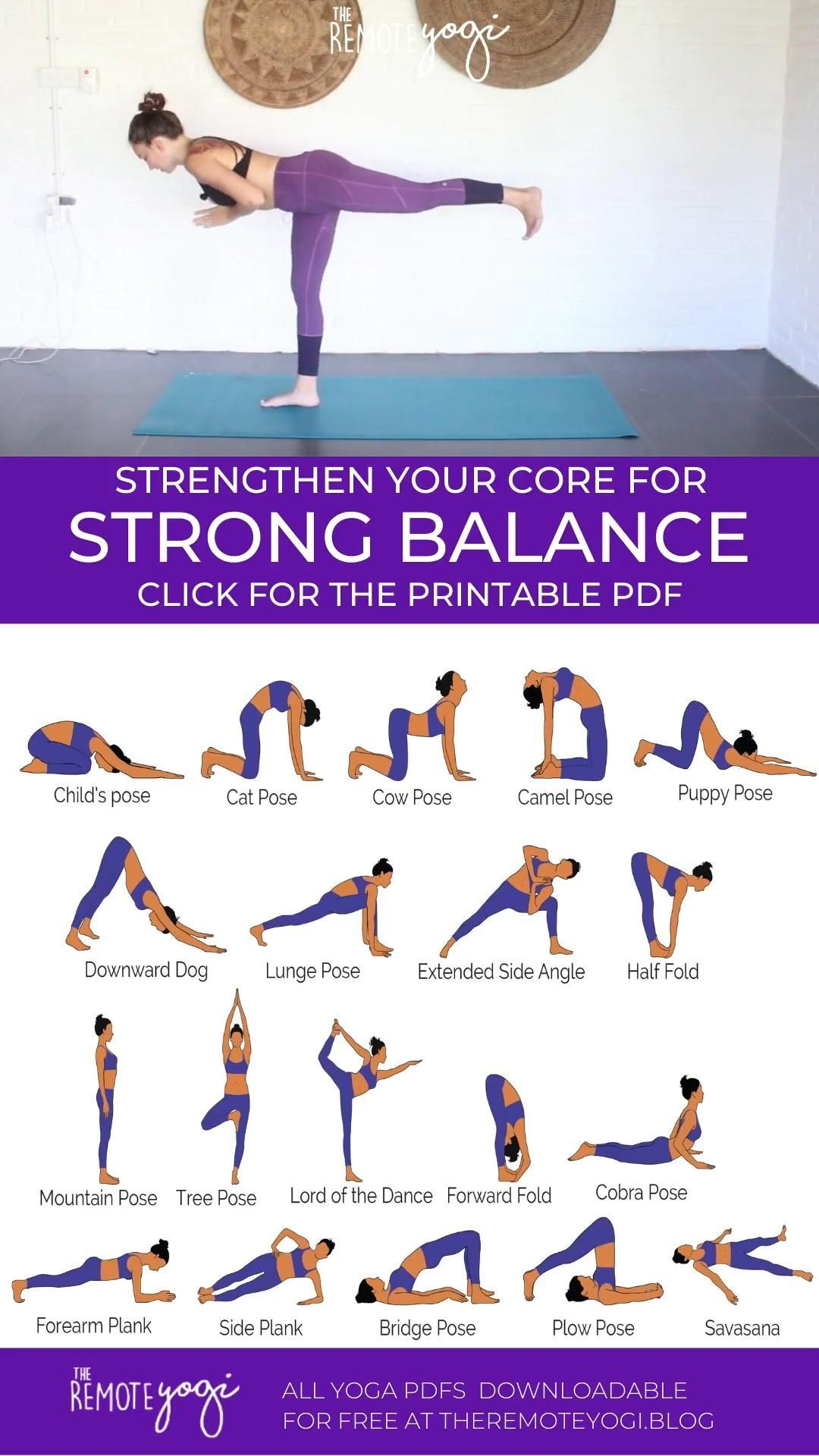 Strengthen Your Core With Balancing Yoga In 2020 Yoga For Balance Yoga Sequences Yoga Flow