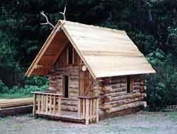 log cabin playhouse plans