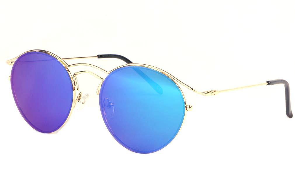 Lunettes soleil rondes bleues Myka marque Spirit of Sun, lunettes soleil  miroir homme et femme 584649ba0387