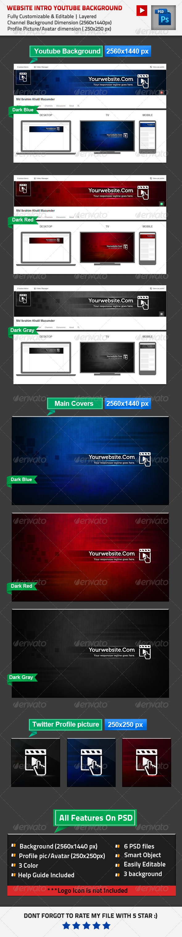 Website Intro Youtube Channel Background Template PSD. Download here ...
