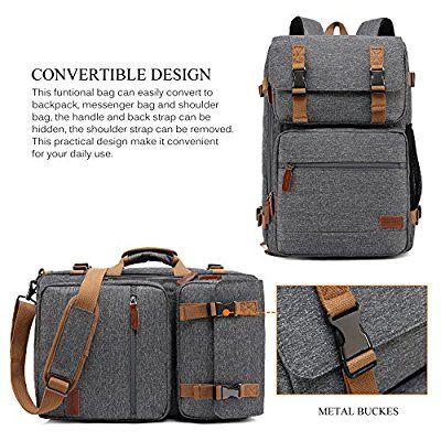 1b46a49849 Amazon.com  CoolBELL Convertible Briefcase Backpack Messenger Bag Shoulder  bag Laptop Case Business Briefcase Travel Rucksack Multi-functional Handbag  Fits ...