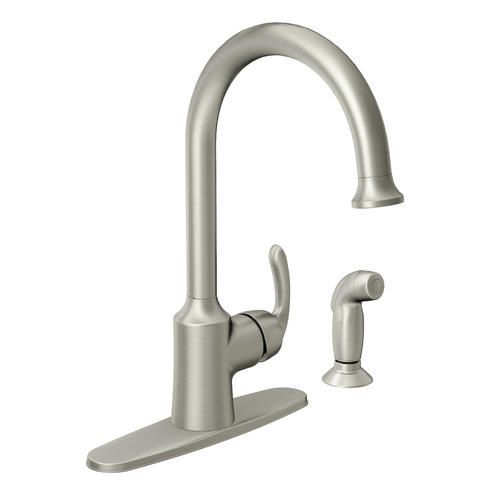 Moen Bayhill One Handle High Arc Kitchen Faucet At Menards 158 High Arc Kitchen Faucet