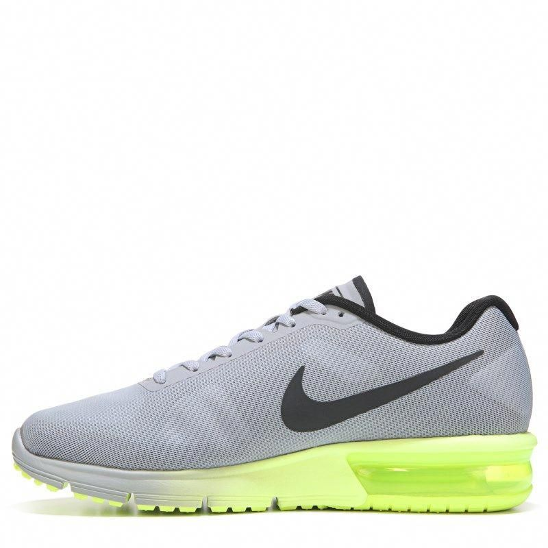 brand new 7dead aef4c Nike Men s Air Max Sequent 3 Running Shoes (Grey Black Volt)