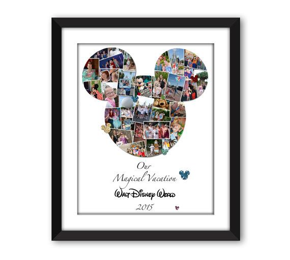 Personalised Disney Mickey Mouse Print Word Art Gift Disneyland World Holiday