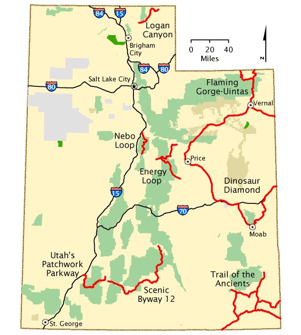 Utah Map America S Byways Utah Map Utah Travel