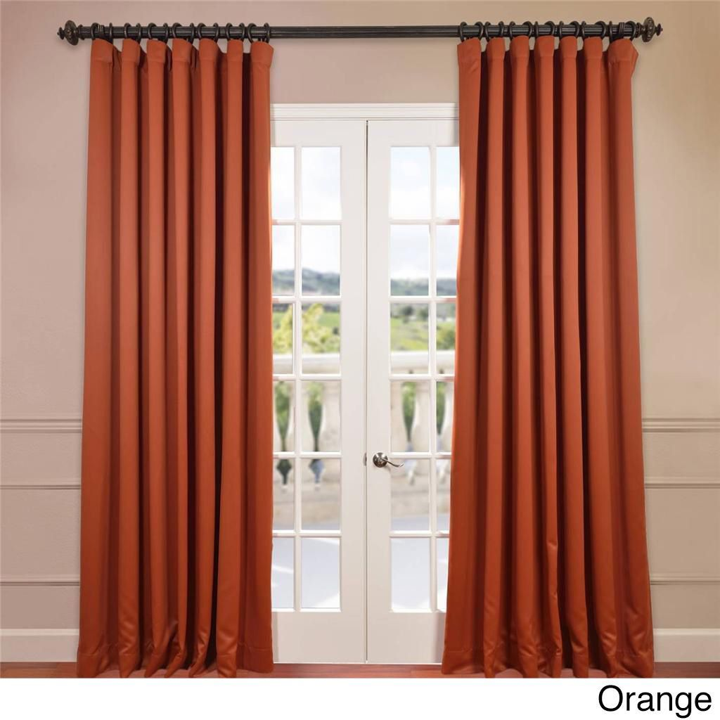 Exclusive Fabrics Extra Wide Thermal Blackout 120 Inch Curtain Panel 100 X 120 Curtains Wide Curtains Panel