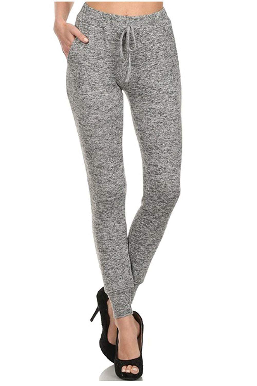 Freeloader womens joggers brushed fleece slim fit pants