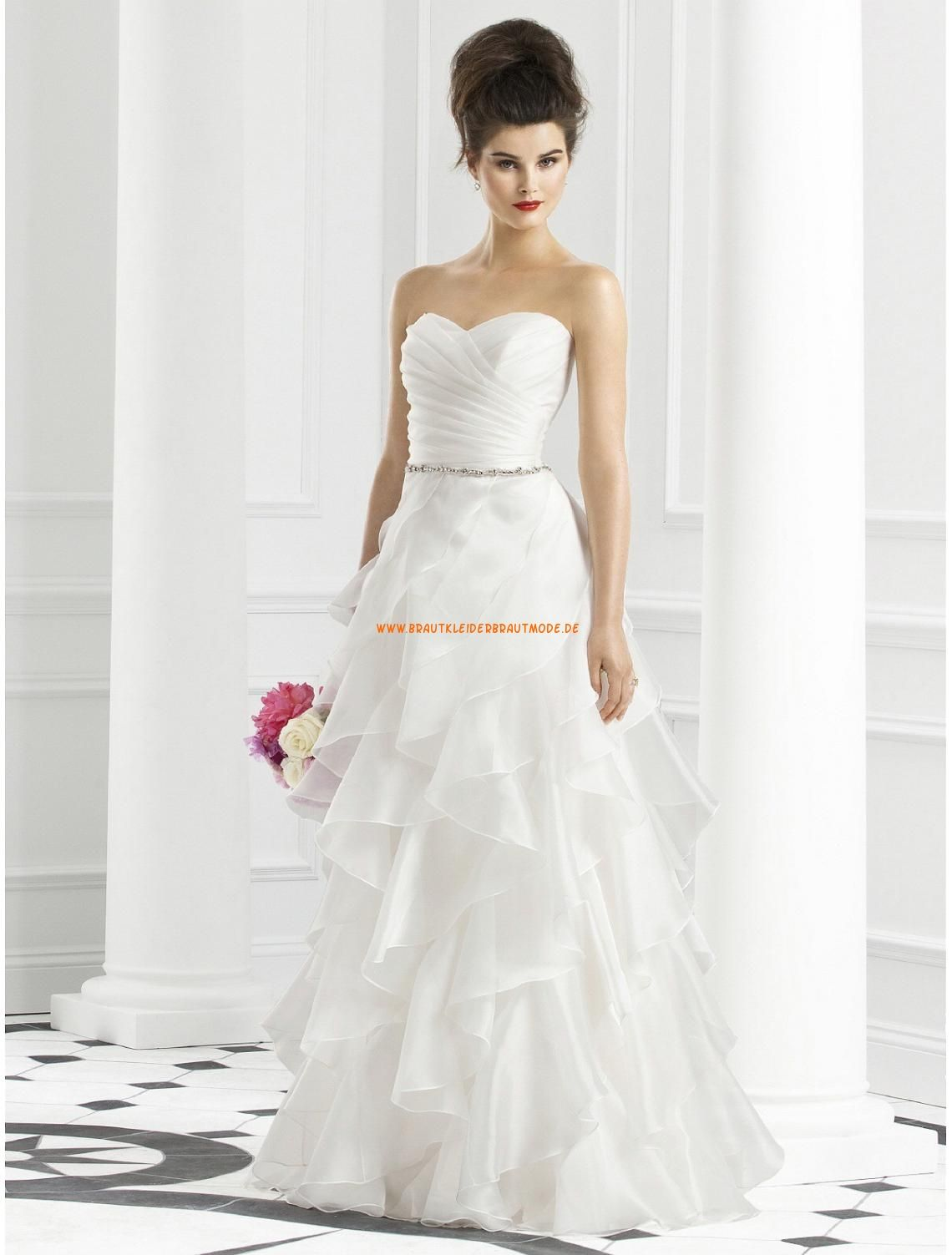 Designe Moderne Lange Brautkleider aus Organza | Brautkleider aus ...