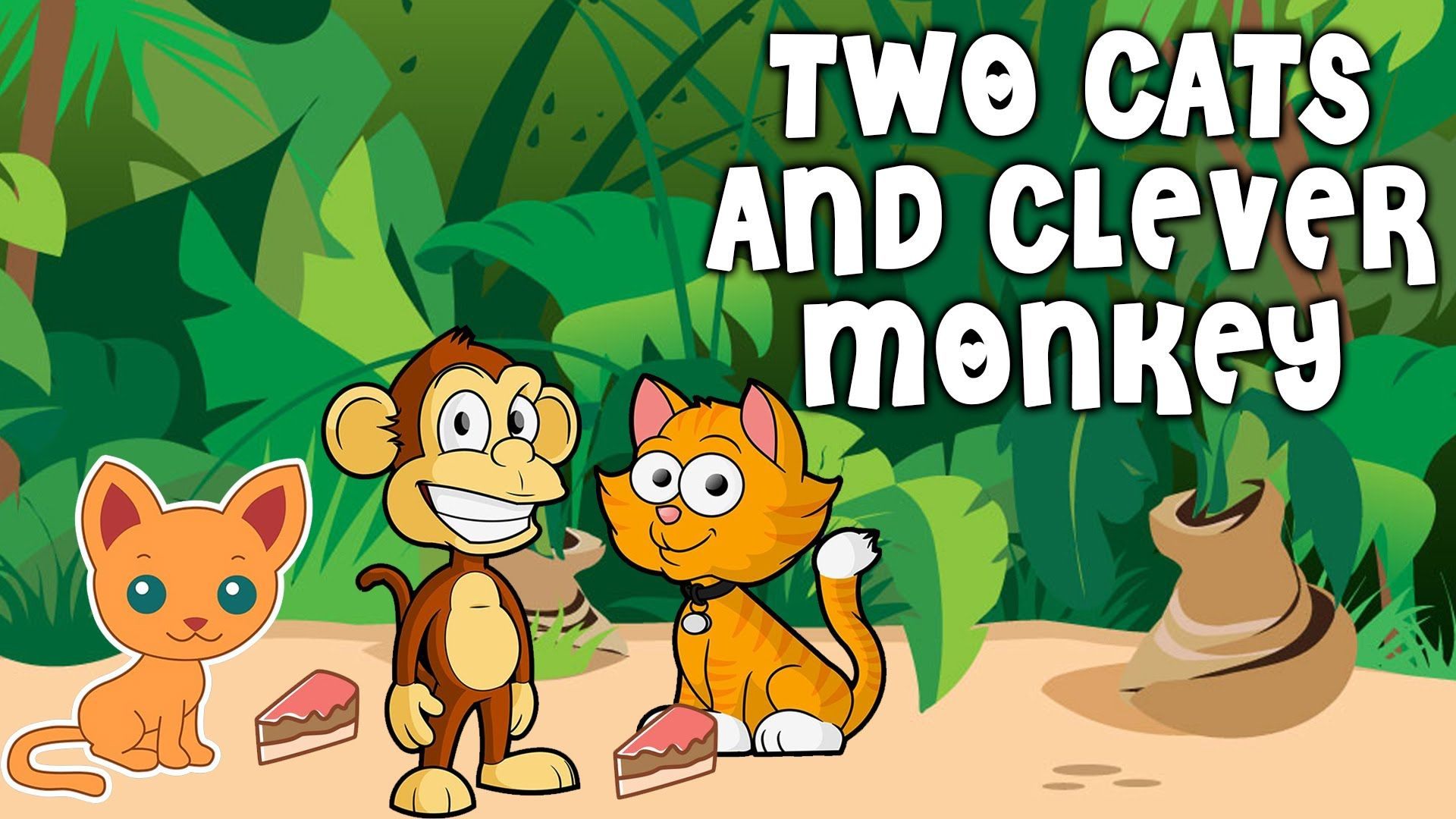 The Story of Two Cats and A Monkey | Panchatantra Tales For