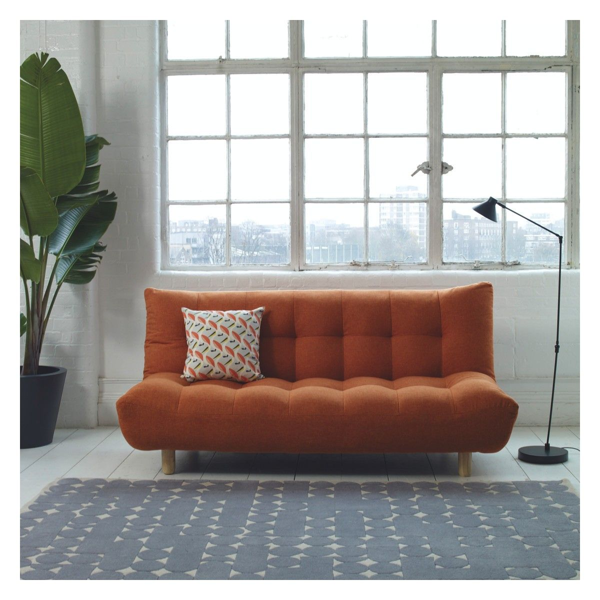 Phenomenal Kota Orange Fabric 2 Seater Sofa Bed Buy Now At Habitat Uk Unemploymentrelief Wooden Chair Designs For Living Room Unemploymentrelieforg