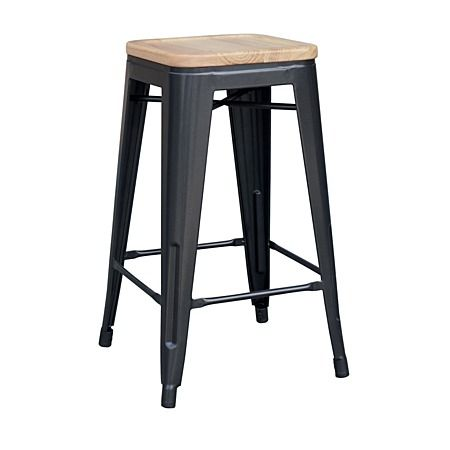 reside metal stool with wood top 66cm charcoal shop stylish and functional bar stools from