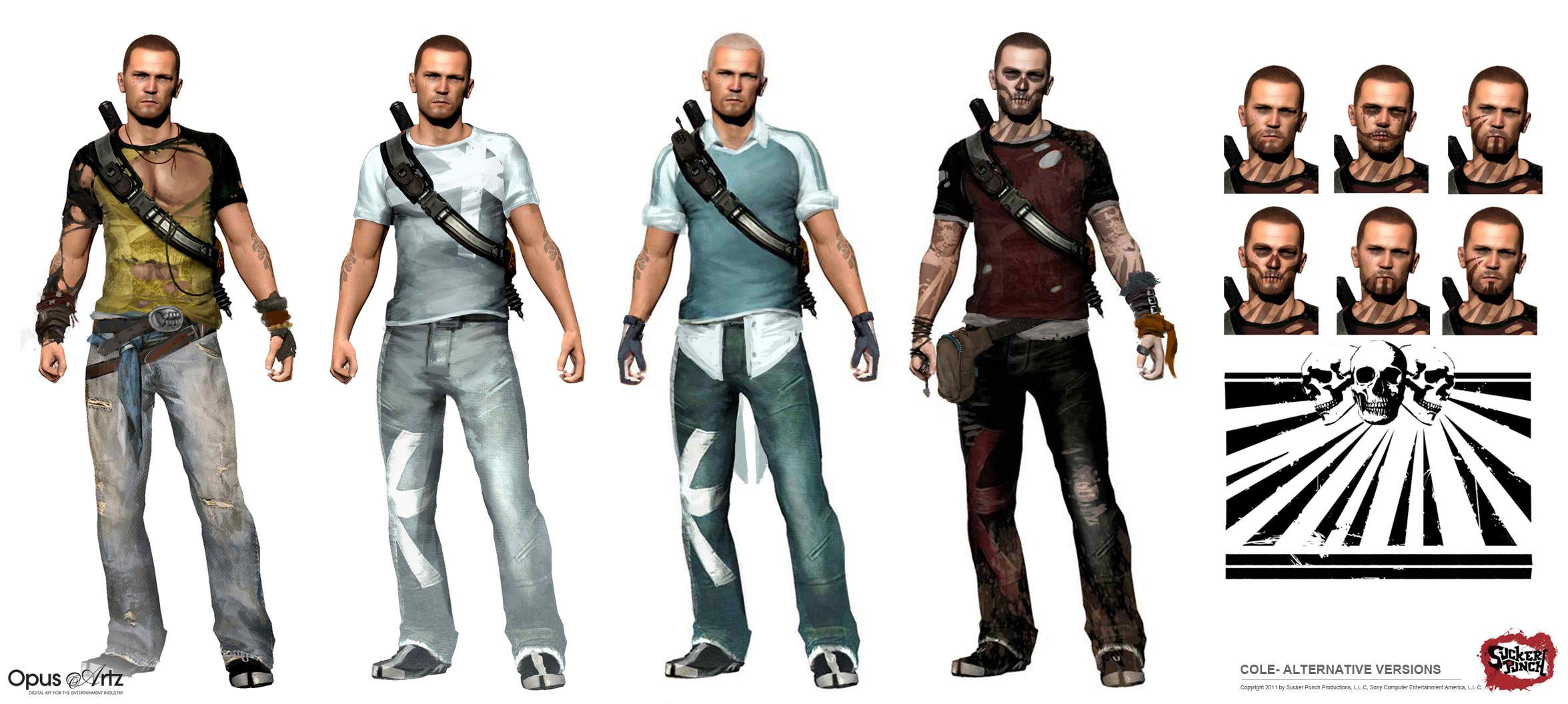 Latest 2351 1056 Infamous 2 Modern Outfits Video Game Art
