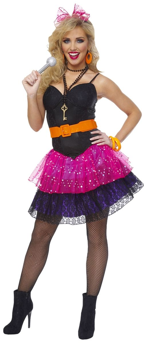 80s Pop Star Costume - Adult Eighties Costume Halloween Costumes - madonna halloween costume ideas